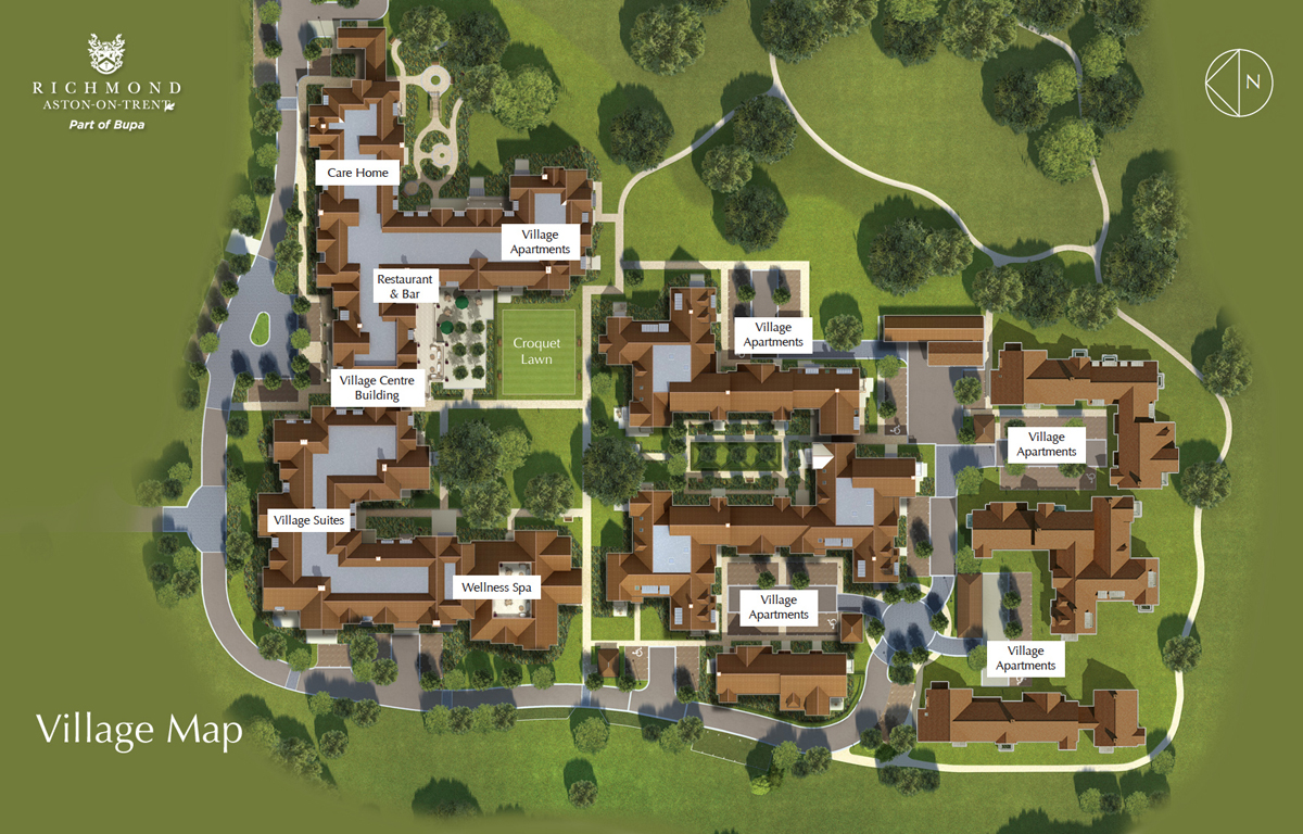 House plans for retirement villages for Home design in village